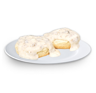 small biscuits and gravy
